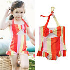 Kids Baby Girls One Piece Halter Swimsuit Bikini Swimwear Bathing Suit Clothes