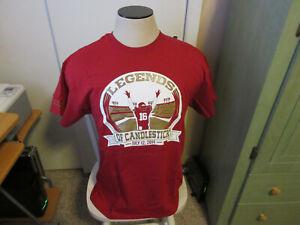 San Francisco 49ers Legends of Candlestick Joe Montana t-shirt new