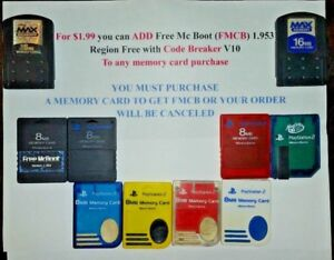 Genuine PS2 Memory Card with OPTION to have FMCB installed - FAST SHIPPING