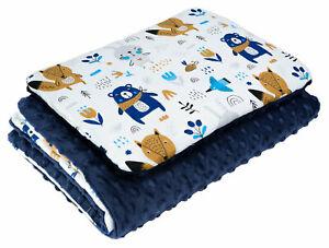 BABY BLANKET PLUS FLAT PILLOW BEDDING SET COT BED CRIB PRAM MOSES BASKET BOYS