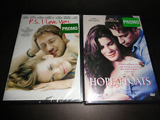 P S I LOVE YOU & HOPE FLOATS-2 DVDs-Harry Connick Jr,Hilary Swank,Sandra Bullock