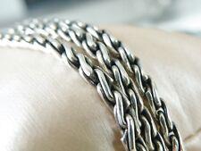 "Vintage CHUNKY 3 Row Sterling Silver Bike Link Chain Byzantine Bracelet 7.25"""