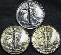 Average Grade of Coin You Receive is Photographed 1944-s Walking Liberty Half