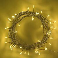 40 LED Warm White String Fairy Lights Battery Operated Xmas Party Decorations
