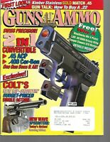 Guns & Ammo Handguns Magazine July 1998 Colt's New Single Action, .45 ACP