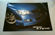2006 Honda Civic Mugen Performance Catalog Brochure