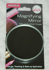 New Swissco Brand 20X Magnifying Mirror with Suction Cups