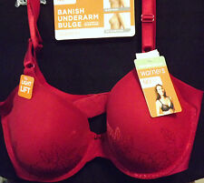 WARNER'S HOLIDAY RED NO SIDE EFFECTS UNDERWIRE BRA WITH LIFT SIZE 34B NEW TAGS