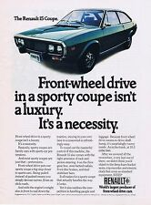 1973 Advertisement - RENAULT 15 COUPE