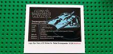 Ersatz Aufkleber/Sticker für LEGO Star Wars Set 10129 Rebel Snowspeeder - UCS