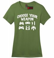 Choose Your Weapon Funny Ladies Soft T Shirt Gamer Gift Gamer Humor Tee Z4