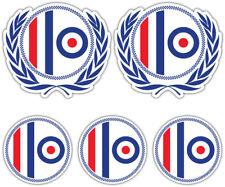 SCOOTER MOD ROUNDEL Laminated Sticker Set vespa Retro Decal b