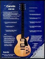 1979 Carvin CM130 guitar photo vintage print ad