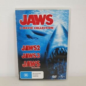 JAWS 3 Movie Collection DVD Jaws 2 + Jaws 3 + Jaws The Revenge (3 Disc Set) R4