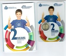2 Euro San Marino 2012 Commemorativi 10 Jahre Euro-Bargeld Gedenkmünze Blister