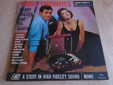 Harry Breuer and his Quintet: Family Favourites LP (Audio Fidelity)1963