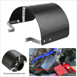 """Air Intake Filter Cover Heat Shield For Racing Car 2.5"""" TO 5.5"""" Filter Universal"""