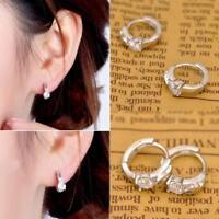 Jewelry Lady New Plated Fashion Ear studs Hoop Earrings Crystal Rhinestone