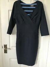 SEED blue-grey tailored bodycon dress size 12