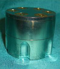AWESOME MAGNETIC METAL TOBACCO/HERB GRINDER BULLET SHAPED  CYLINDER