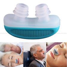 Anti Snore Silicone Nasal Dilators Apnea Aid Device Stop Snoring Nose Clip Blue