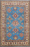 Vegetable Dye Super Kazak Oriental Area Rug Hand-knotted Home Decor 4'x6' Carpet