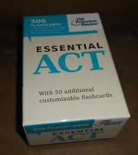The Princeton Review Essential ACT 500 Flashcards w/50 Add'l Blank Cards 2011
