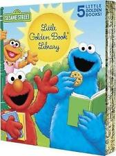 NEW Sesame Street 5 Little Golden Books Library Collection Elmo Kids' Gift Idea!