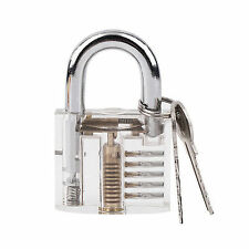 Mini Pick Cutaway Visable Padlock Lock For Locksmith Practice Training Skill Kit