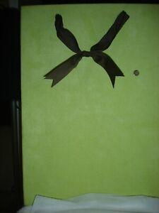 "Maude Asbury Green Magnet Memory Memo Board Photo Holder Bow Hanger 12"" x 8"""