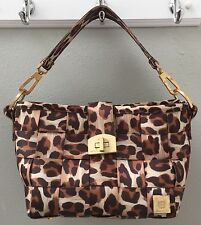Harveys Seatbelt Carriage Hobo Bag Leopard Animal Print Purse Handbag Med Size