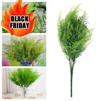 Plastic Green Plants 7 Stems Artificial Asparagus Fern Grass Bushes Flower For H
