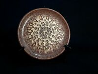 Brown Speckled Studio Stoneware Hand Crafted Plate  ☆Amazing!