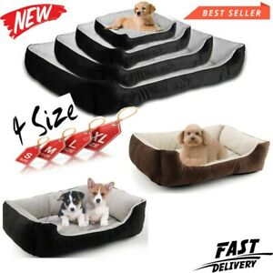 Dog Beds Pet Cushion House Soft Warm Kennel Blanket Nest Washable UK