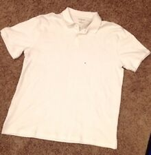 Van Heusen Men's XL White Polo Brand New W/ Tags 100% Cotton Clothing Never Worn