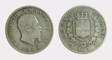 pci4473) VITTORIO EMANUELE II (1861-1878) 1 LIRA STEMMA 1863 MI AR