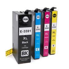 4x Cartucho de tinta negro + color para Epson WorkForce WF-4740DTWF