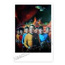 Star Trek Cast - Nichelle Nichols, William Shatner, Leonard Nimoy ++ Autogramm 