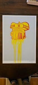 Sickboy Buff Temple Screen Print. Ltd edition. Rare. Banksy,Eine,Xenz, Sweetoof.