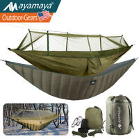 Portbable Camping Hammock With Mosquito Net /Underquilt Blanket Tent Full Length