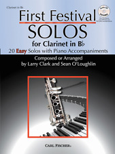 """FIRST FESTIVAL SOLOS FOR CLARINET"" WITH PIANO ACCOMPANIMENTS MUSIC BOOK/CD-NEW!"