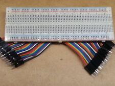 40p M-M Jumper Wires + 830 Tie-Point Solderless MB-102 ProtoBreadboard *US SHIP*