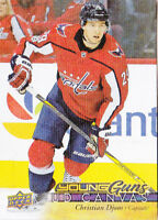 17-18 Upper Deck Christian Djoos UD Canvas Young Guns Rookie Capitals 2017