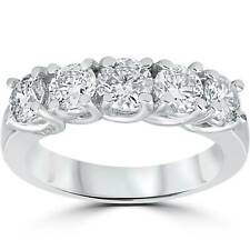 14k White Gold 1 1/2ct TDW Diamond Wedding Ring Size 7