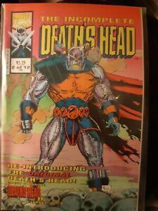 The Incomplete Death's Head #2 of 12 Rare Feb 1992 Marvel Uk with Death's Head 2