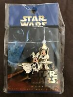 2004 DISNEY STAR WARS WEEKENDS MICKEY MINNIE LOGO PIN LE 7000 NEW ON CARD