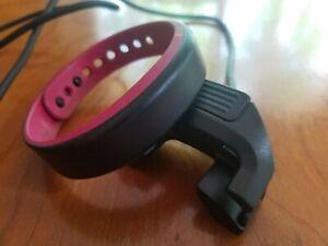 Garmin Vivosmart Activity Tracker Women's Small Black / Berry Fitness Watch Used