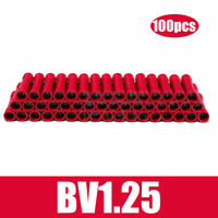 100X Cable Insulated Straight Connectors Electrical Crimp Terminals Plastic Tool