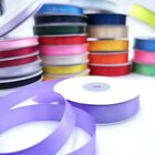 Double Sided Satin Ribbon 6,10 & 15mm 23 Metre Reels 22 colours BUY 3 GET 1 FREE