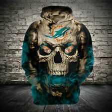 Miami Dolphins Football Hoodies Sweatshirt Men's Casual Pullover Jacket Coat Top